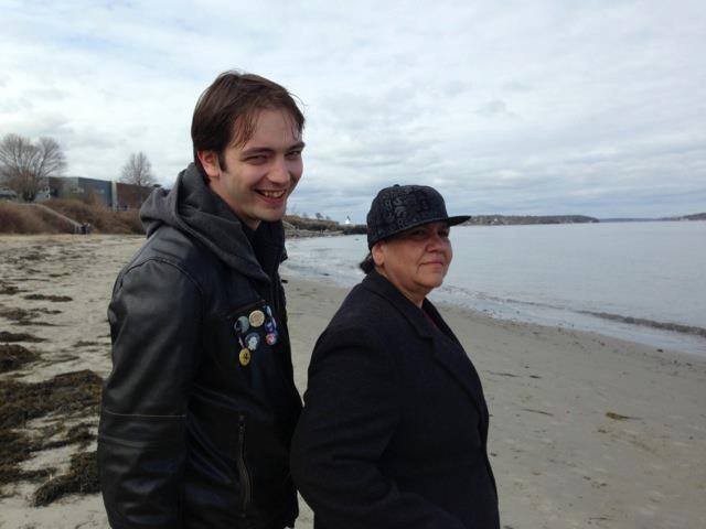 Me on the left and Zen on the right at a beach during my weekend hanging with her.
