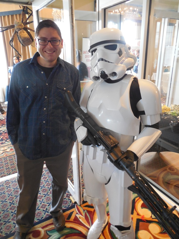My friend Frank on the left, standing next to one of the 501st troopers.