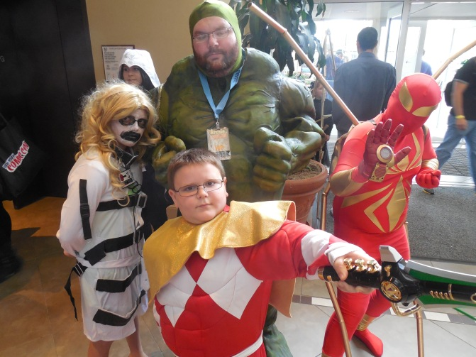An entire family of cosplayers. My favorite was Iron-Spider.