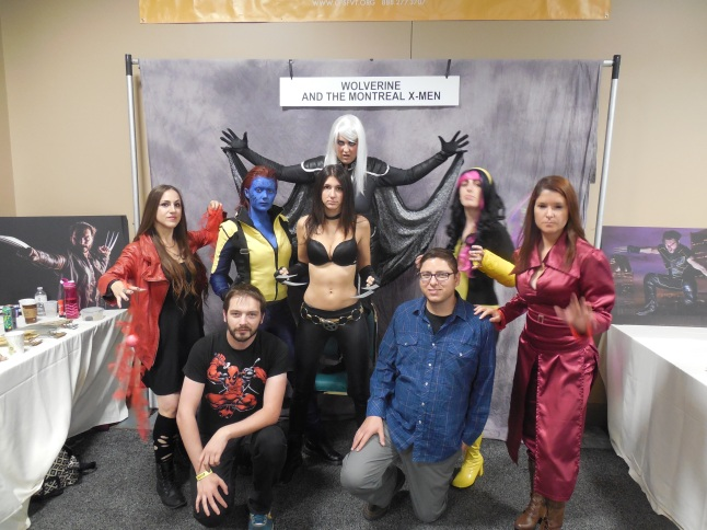 Frank and me posing with the lovely ladies of Montreal X-Men.