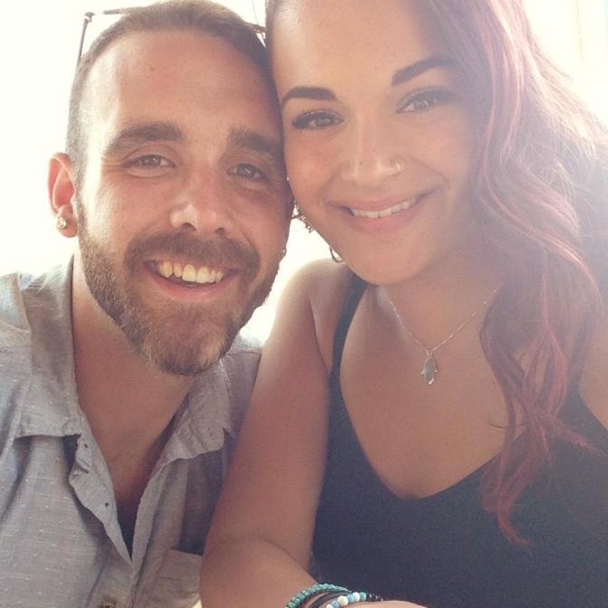 Alicia with her boyfriend, Zacharia.