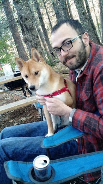 Ramon and his dog, Seito.