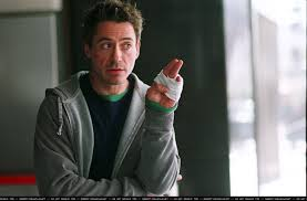 THE GOOD: Robert Downey Jr.'s portrayal of Harry Lockhart in the noir Kiss Kiss Bang Bang is a frenetic joyride.
