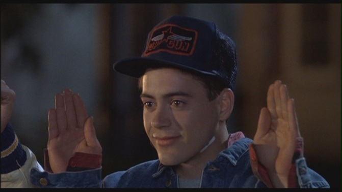 THE BAD: Robert Downey Jr. played Leo Wiggins in the unwatchable film Johnny Be Good.