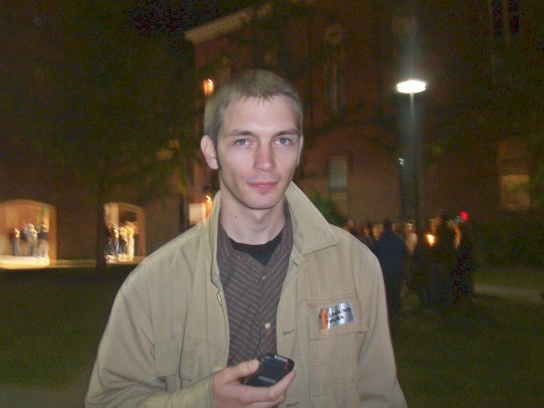 Me on a ghost-hunting tour back in 2009 in Salem