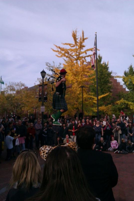 A street performer in Salem. This guy was charming and really had the crowd going.