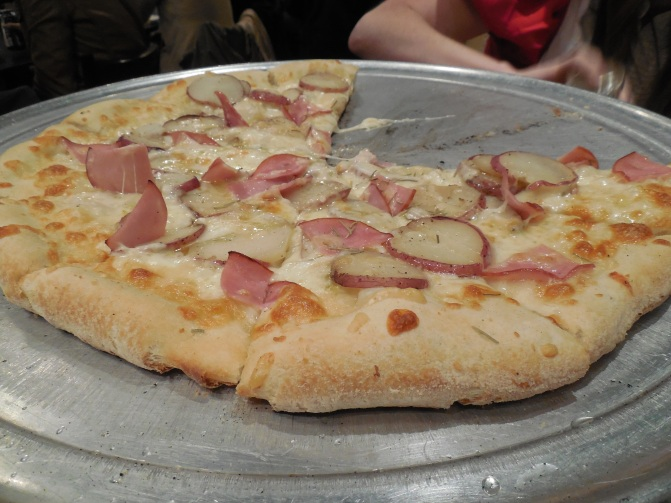 A delicious pizza from Flying Saucer Pizza in Salem. This one was called
